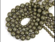Бусина Пирит, шар 10 мм (1 шт) №14601