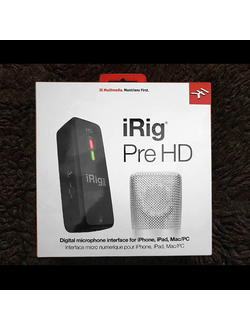 iRig Pre HD - интерфейс для подключения динамического и конденсаторного микрофона к iPhone, iPad, PC