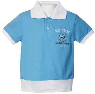 Рубашка поло (Артикул 2147-342) цвет голубой