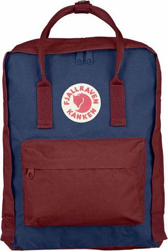 Рюкзак Fjallraven Royal Blue - Ox Red (Mini)