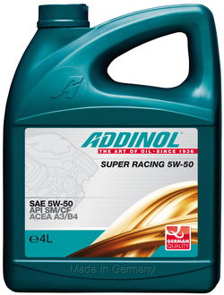 Моторное масло Addinol Super Racing 5W-50, 4л
