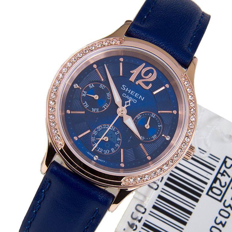 2ad7b1f5cb3c Женские японские наручные часы Casio Sheen SHE-3030GL-2A купить в ...