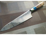 Нож -шеф Custom kitchen knife Damascus