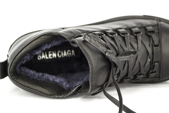 Зимние ботинки Balenciaga High Black Winter
