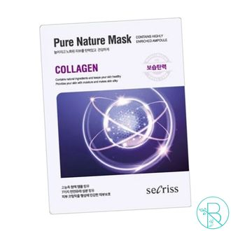 Маска тканевая Anskin Secriss Pure Nature Mask Collagen с коллагеном