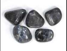 Корунд синий (сапфир) в ассортименте, галтовка, Индия (15-20 мм, 5-6 г) №21311