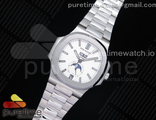 Nautilus 5726 Complicated SS GRF Best Edition White Textured Dial on SS Bracelet A324