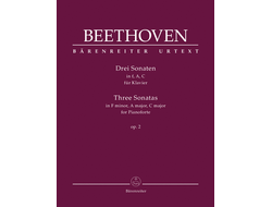 Beethoven Three Sonatas for Piano: F minor, A Major, C Major Op. 2