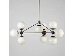 ТоварModo 10 Globes Chandelier Black and White Glass designed by Jason Miller
