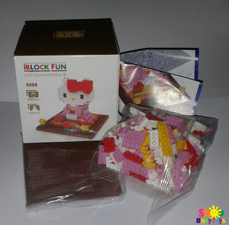 Конструктор iblocks Fun - Hello Kitty, 240 деталей