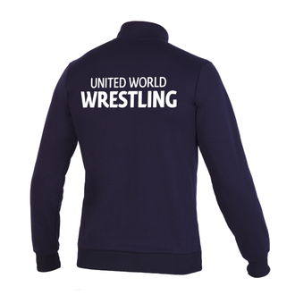 кофта на замке Асикс, UWW, United World Wrestling Синяя, asics