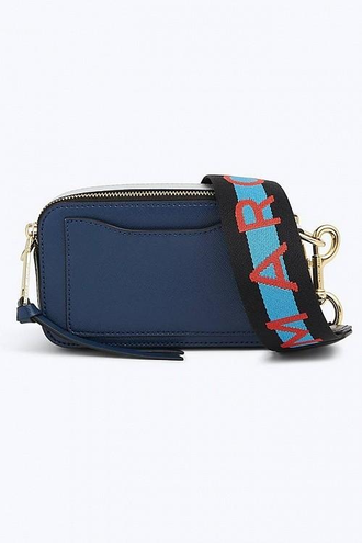 MARC JACOBS Logo Strap Snapshot Small Camera Bag Blue/Sea