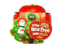 ОСВЕТЛЯЮЩАЯ МАСКА С ЭКСТРАКТОМ ЯБЛОКА URBAN DOLLKISS NEW TREE APPLE INSTANT TONE-UP BRIGHTENING PACK