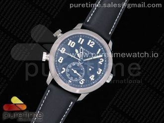 Calatrava 5524G Pilot Travel Time GRF Blue Dial