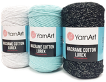 Пряжа YARNART MACRAME COTTON LUREX