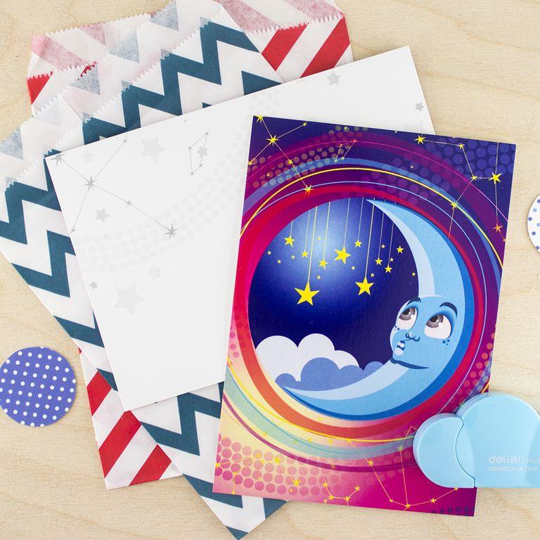 Наборы открыток космос, картинки про