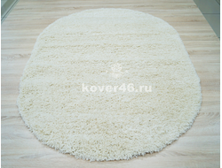 КОВЕР SHAGGY XXX 10013 WHITE / 1.5*2.3М OVAL