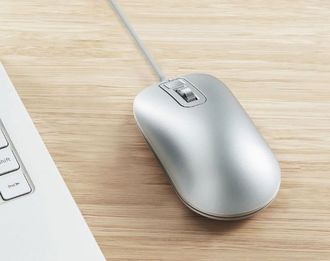 Компьютерная мышь Xiaomi Fingerprint smart fingerprint mouse серебристая