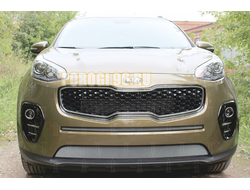 Защита радиатора KIA Sportage IV 2016-2018 chrome середина