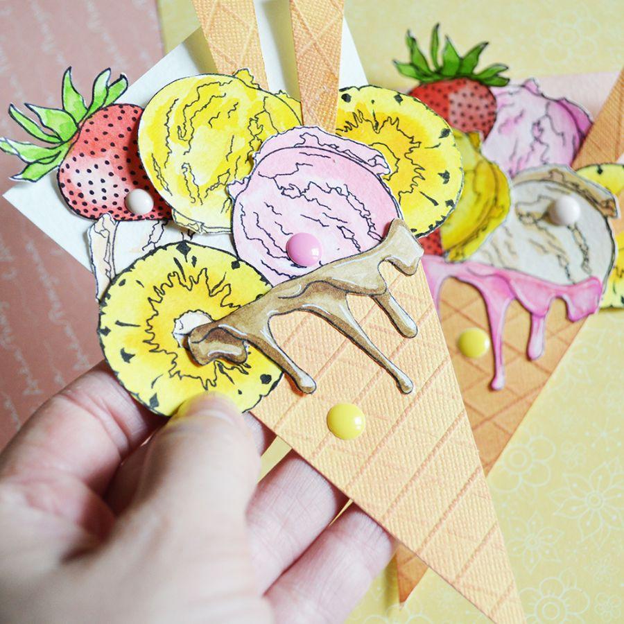 Картинки, открытка со сладостями скрапбукинг