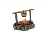 Cooking pot on campfire (PAINTED)