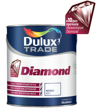 Краска Dulux Diamond Matt 2.5 л.