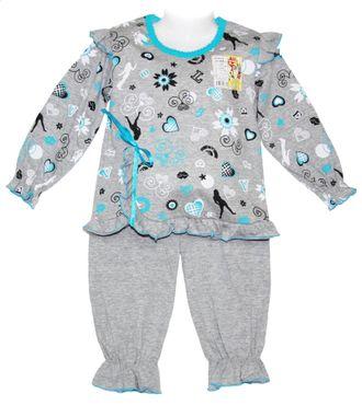 Пижама для девочки (Артикул 332-253) цвет лазурный