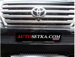 Premium защита радиатора для Toyota Land Cruiser 200 (2012-2015) из 2-х частей