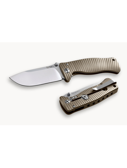 Нож LionSteel SR2 mini Titanium бронзовый