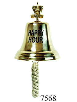 "Колокол бронзовый ""HAPPY HOUR"" d=15 см"