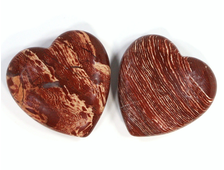 Сердце Яшма брекчиевая в ассортименте, ЮАР (40*40*12 мм, 35-40 г) №20613
