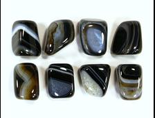 Агат, оникс чёрный, галтовка, в ассортименте (18-22 мм, 8-10 г) №15311