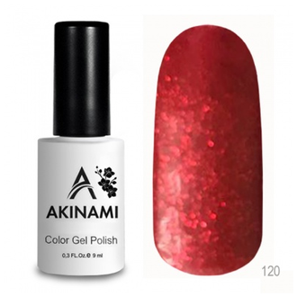 Akinami Glitter Red AСG120, 9 мл