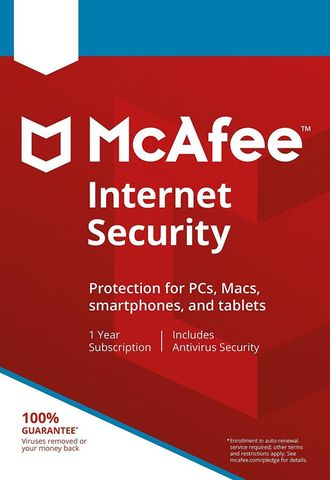 Антивирус McAfee Internet Security для 3 ПК на 1 год ( электронная версия )