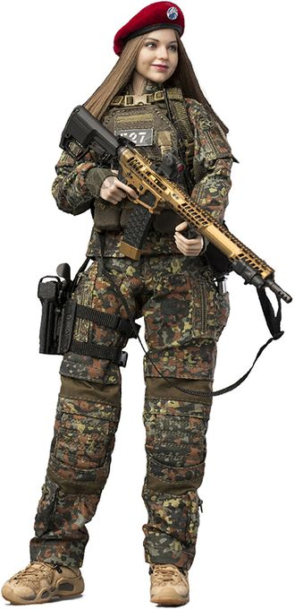 Керр (Миранда Керр) - Коллекционная ФИГУРКА 1/6 scale Action Figure FLECKTARN WOMEN SOLDIER—KERR (VCF-2050) - VERYCOOL