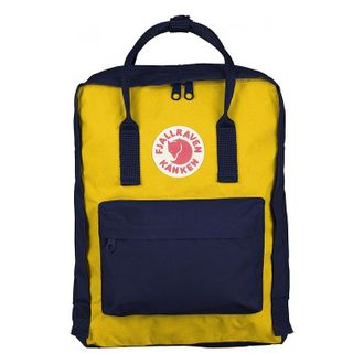 Рюкзак Fjallraven Kanken Yellow/Royal Blue (Mini)