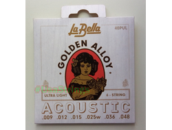 La Bella golden alloy 40pul ultra light 9-48