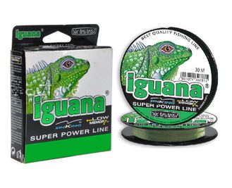 Леска super power Balsax Iguana 30m 0.25mm тест 7.80кг.