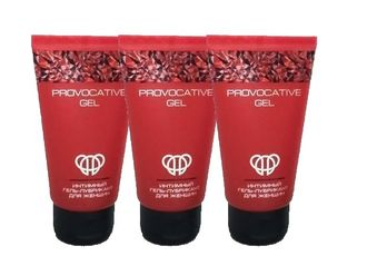 Intimate lubricant gel for women Provocative gel (3 pieces)
