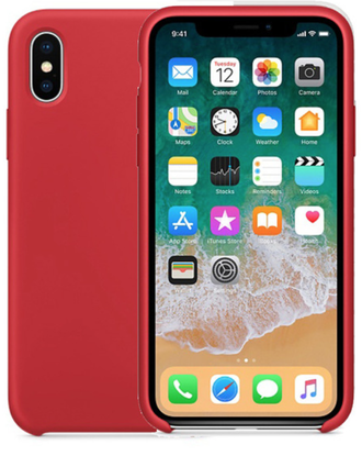 iPhone X Silicone Case красный