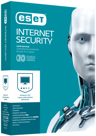 NOD32-EIS-NS(EKEY)-2-3 ESET NOD32 Internet Security - лицензия на 2 года на 3ПК