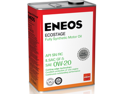 Масло моторное ENEOS ECOSTAGE 0W-20 4л 8801252022022