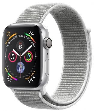 Apple Watch Series 4 44mm Silver with Seashell Sport Loop