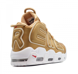 Nike Air More Uptempo Supreme 96 Золотые с белым