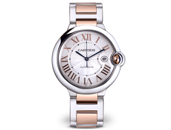 Cartier Ballon bleu Pink gold and steel