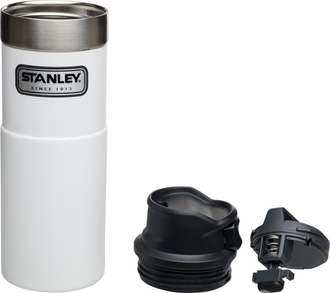 Термокружка Stanley Classic Trigger Action One Hand 0,47L белый