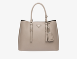 Prada Double Bag Clay Grey 35