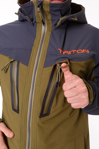 "Костюм ""Craft Duo"" (Softshell APEX, Хаки/серый) Triton"