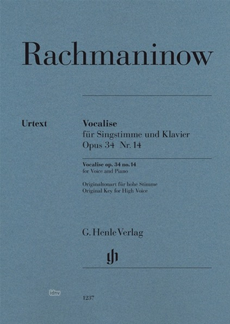 Rachmaninow: Vocalise op. 34 Nr. 14 for voice and piano