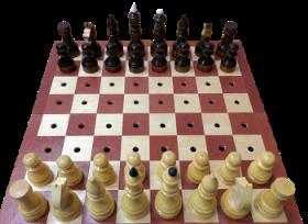 Деревянные шахматы с деревянной доской для слепых